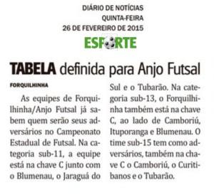 Jornal Diário de Notícias - 26/02/2015