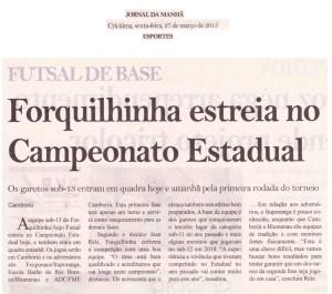 Anjos do Futsal no Jornal da Manhã - 27/03/2015
