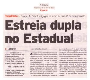 Anjos do Futsal no Jornal A Tribuna - 10/04/2015