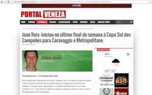 Anjos do Futsal na coluna de Jean Reis no Portal Veneza – 02/04/2015