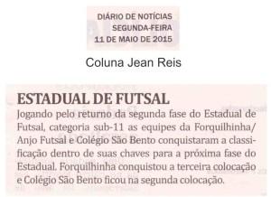 Anjos do Futsal no Jornal Diário de Notícias - 11/05/2015