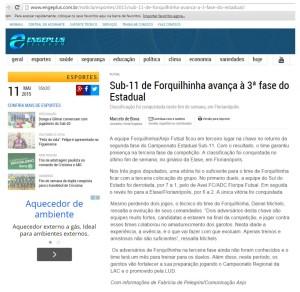 Anjos do Futsal no Portal Engeplus - 11/05/2015