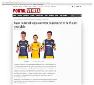 Anjos do Futsal no Portal Veneza - 12/05/2015