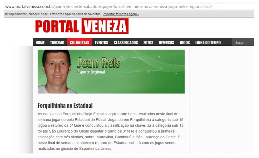Anjos do Futsal no Portal Veneza - 10/07/2015