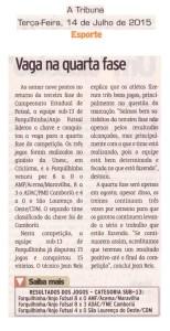 Anjos do Futsal no Jornal A Tribuna - 14/07/2015