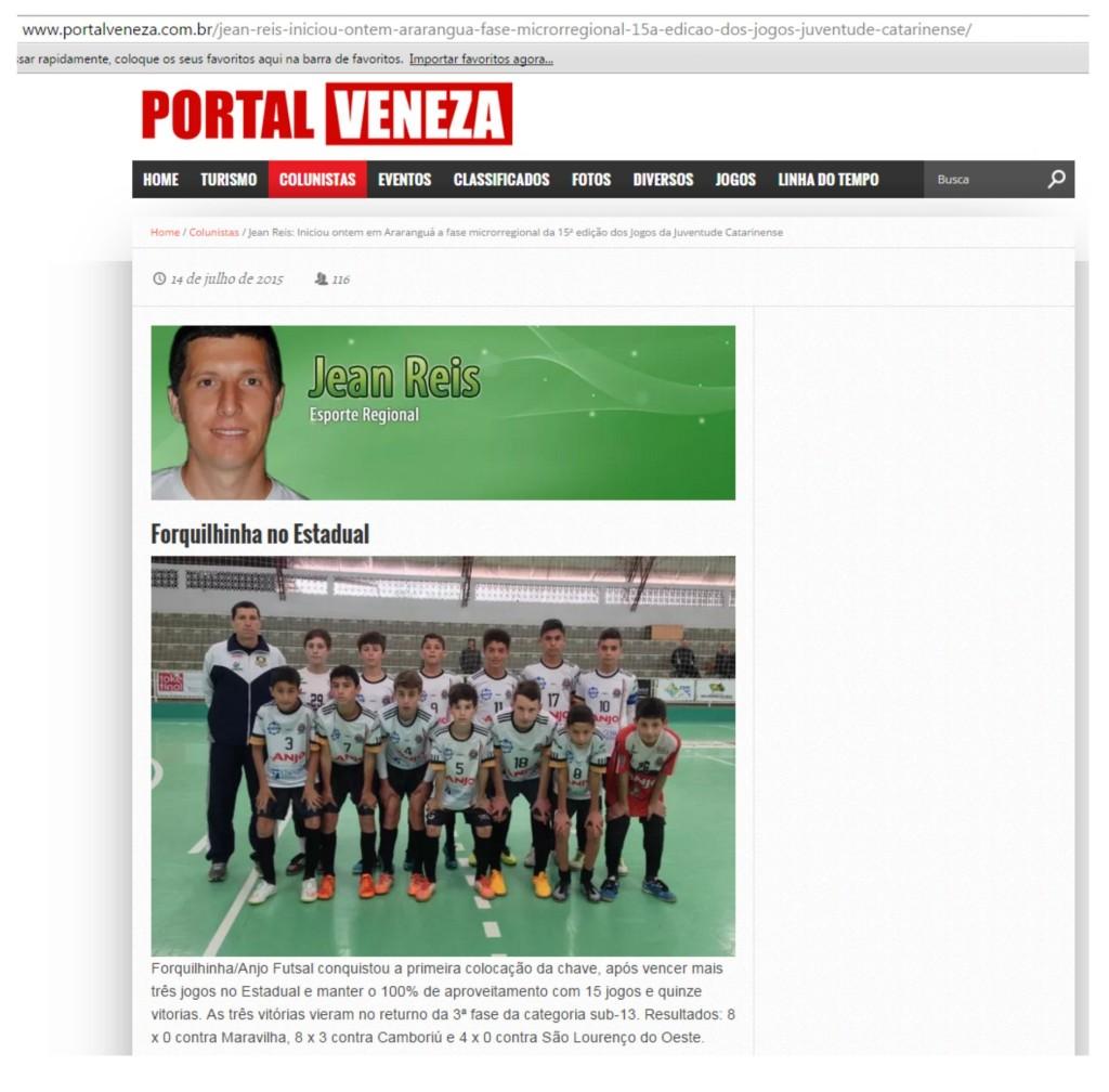 Anjos do Futsal no Portal Veneza - 14/07/2015