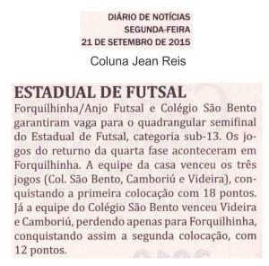Anjos do Futsal no Jornal Diário de Notícias - 21/09/2015