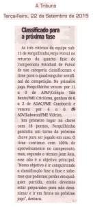 Anjos do Futsal no Jornal A Tribuna - 22/09/2015