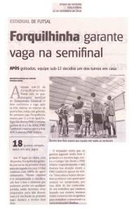 Anjos do Futsal no Jornal Diário de Notícias - 22/09/2015