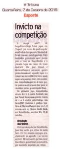 Anjos do Futsal no Jornal A Tribuna - 07/10/2015
