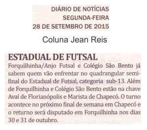 Anjos do Futsal no Jornal Diário de Notícias - 28/09/2015