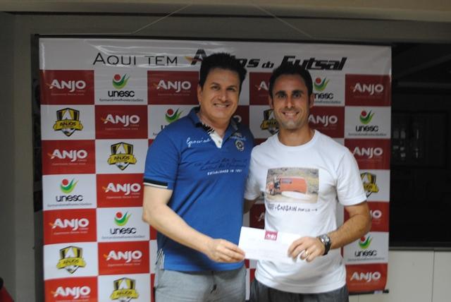 Professor de Içara/Presidente Vargas ficou em 2° lugar na pontuação geral do Anjos do Futsal.