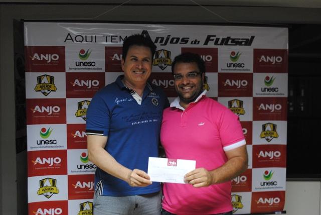 Professor de Forquilhinha ficou em 1° lugar na pontuação geral do Anjos do Futsal.