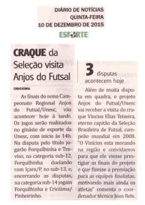 Anjos do Futsal no Jornal Diário de Notícias - 10/12/2015